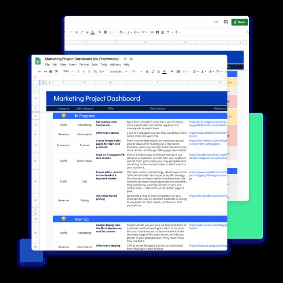 Marketing Project Dashboard