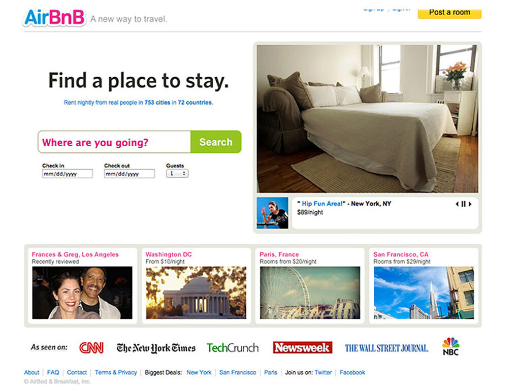 Rebranding AirBnB - Outdated Website