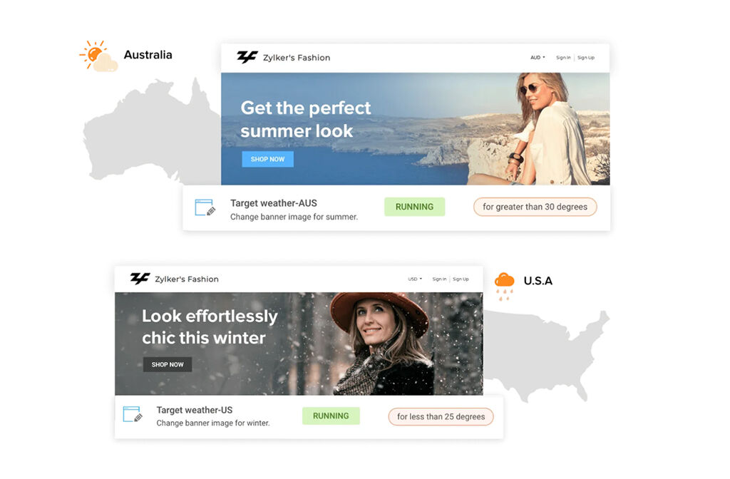 Personalized Text on Landing Pages - Website Personalization Examples
