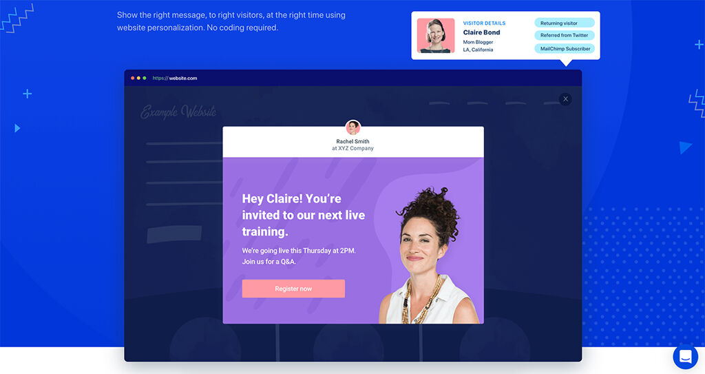 Personalized Call-to-Actions - Website Personalization Examples